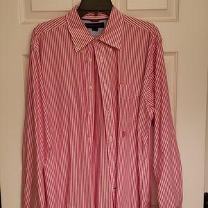 red striped dress shirt